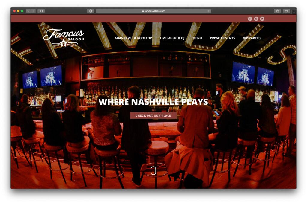 Famous Saloon website