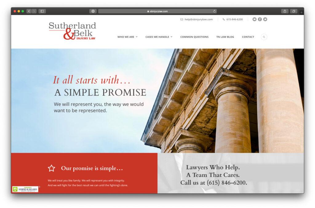 Sutherland & Belk Website