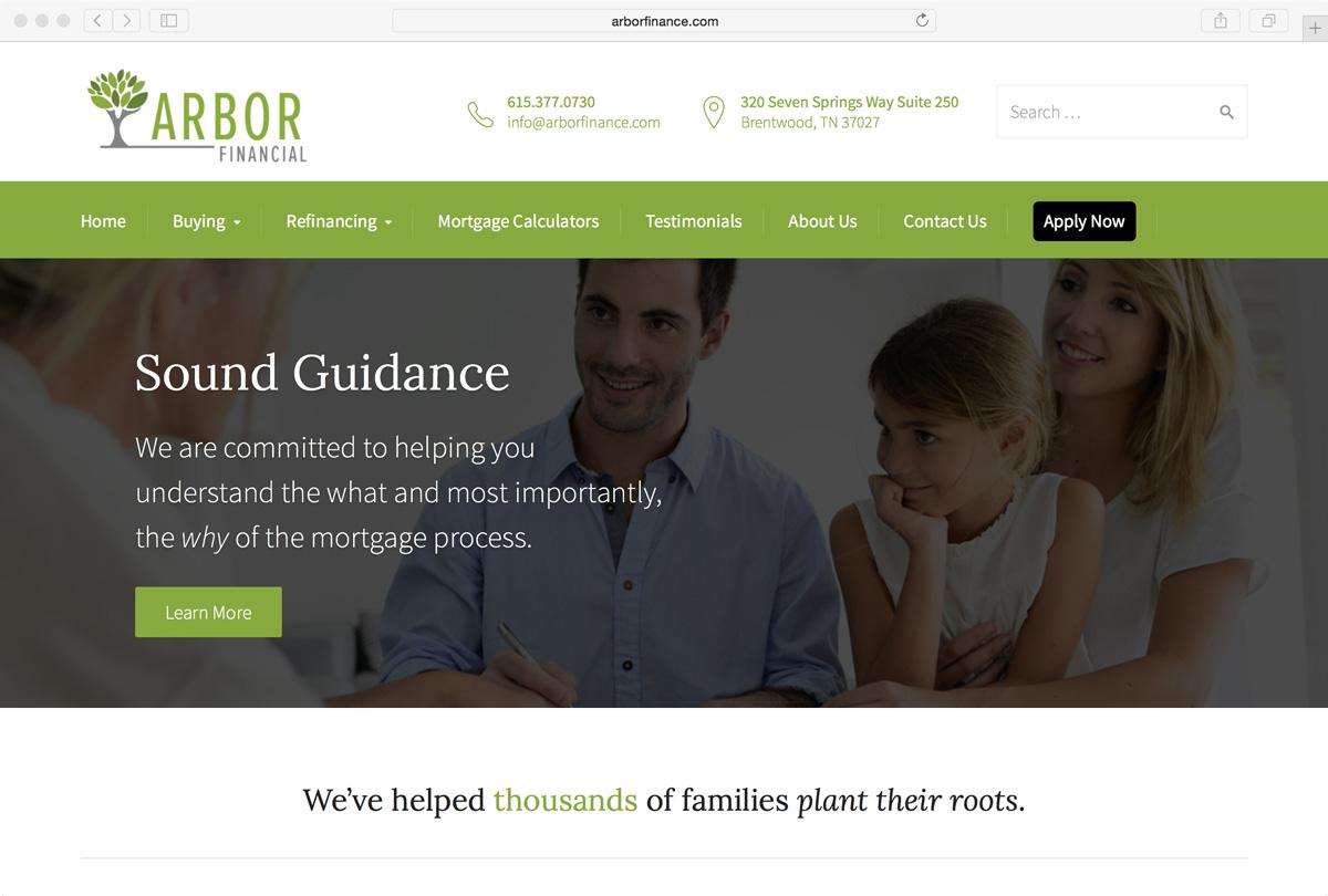 Arbor Finance Website